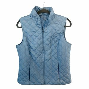 Northern Reflections Blue Quilted Puffer Vest